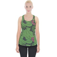 Seamless Pattern With Hand Drawn Guelder Rose Branches Piece Up Tank Top