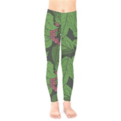 Seamless Pattern With Hand Drawn Guelder Rose Branches Kids  Leggings