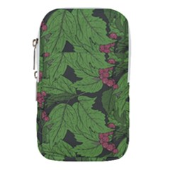 Seamless Pattern With Hand Drawn Guelder Rose Branches Waist Pouch (large)