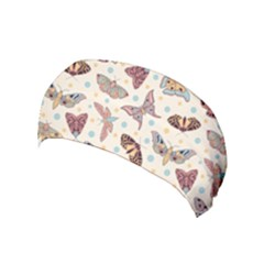 Pattern With Butterflies Moths Yoga Headband