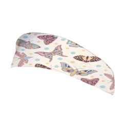 Pattern With Butterflies Moths Stretchable Headband