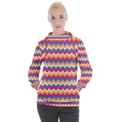 Zigzag Pattern Seamless Zig Zag Background Color Women s Hooded Pullover