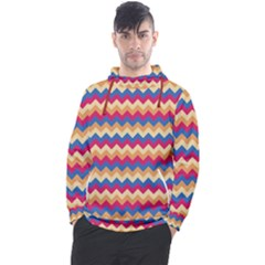Zigzag Pattern Seamless Zig Zag Background Color Men s Pullover Hoodie