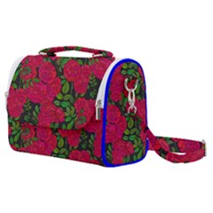 Seamless Pattern With Colorful Bush Roses Satchel Shoulder Bag
