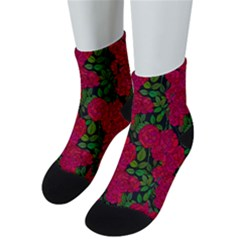 Seamless Pattern With Colorful Bush Roses Men s Low Cut Socks
