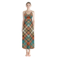 Tartan Scotland Seamless Plaid Pattern Vector Retro Background Fabric Vintage Check Color Square Button Up Chiffon Maxi Dress