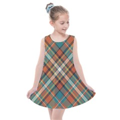 Tartan Scotland Seamless Plaid Pattern Vector Retro Background Fabric Vintage Check Color Square Kids  Summer Dress by BangZart