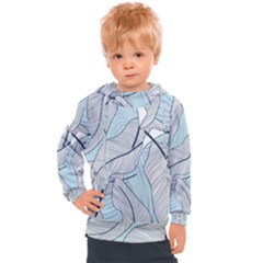 Tropical Flower Seamless Pattern Kids  Hooded Pullover