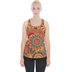 Bright Seamless Pattern With Paisley Elements Hand Drawn Wallpaper With Floral Traditional Piece Up Tank Top