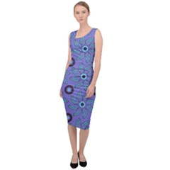 Floral Seamless Pattern Sleeveless Pencil Dress