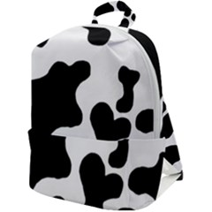 Cow Pattern Zip Up Backpack