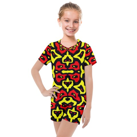 Rby-166 2 Kids  Mesh Tee And Shorts Set by ArtworkByPatrick