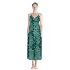 Branches Of A Wonderful Flower Tree In The Light Of Life Button Up Chiffon Maxi Dress