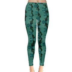 Branches Of A Wonderful Flower Tree In The Light Of Life Inside Out Leggings by pepitasart