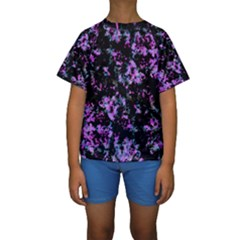 Abstract Intricate Texture Print Kids  Short Sleeve Swimwear by dflcprintsclothing