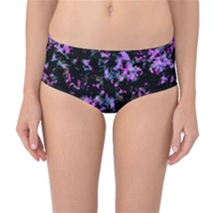 Abstract Intricate Texture Print Mid-waist Bikini Bottoms by dflcprintsclothing