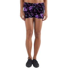 Abstract Intricate Texture Print Yoga Shorts by dflcprintsclothing