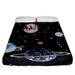 Cute Space Fitted Sheet (king Size)