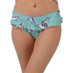 Unicorn Patterns Frill Bikini Bottom by Bejoart