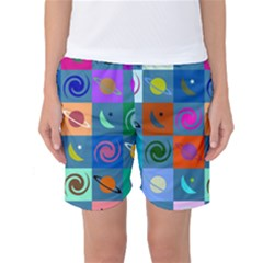 Space Pattern Multicolour Women s Basketball Shorts