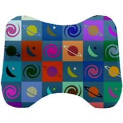 Space Pattern Multicolour Head Support Cushion