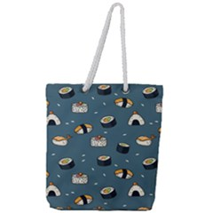 Sushi Pattern Full Print Rope Handle Tote (large) by Bejoart