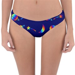 Space Pattern Colourful Reversible Hipster Bikini Bottoms
