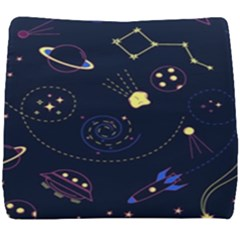 Cartoon Space Seamless Pattern Vectors Seat Cushion