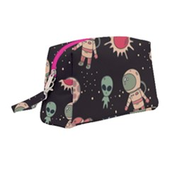 Space Pattern Cartoon Wristlet Pouch Bag (medium) by Bejoart