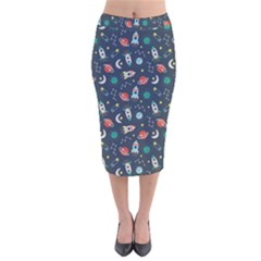 Cute Patterns Velvet Midi Pencil Skirt
