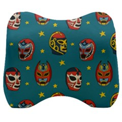 Mask Pattern Velour Head Support Cushion