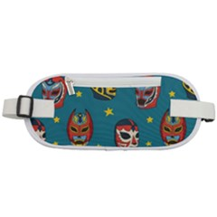 Mask Pattern Rounded Waist Pouch
