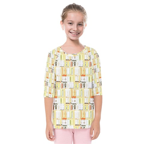 Abstract Pattern Kids  Quarter Sleeve Raglan Tee by Bejoart