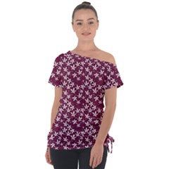 Small Flowers Pattern Tie-up Tee