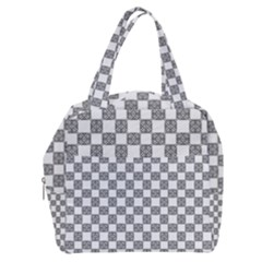Seamless Tile Derivative Pattern Boxy Hand Bag by Bejoart