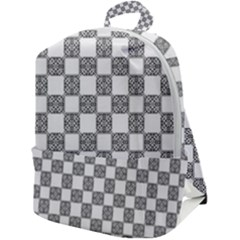 Seamless Tile Derivative Pattern Zip Up Backpack