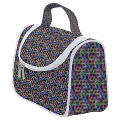 Seamless Prismatic Geometric Pattern With Background Satchel Handbag