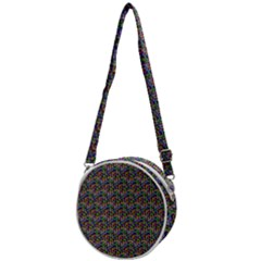 Seamless Prismatic Geometric Pattern With Background Crossbody Circle Bag