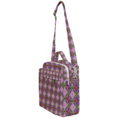 Seamless Psychedelic Pattern Crossbody Day Bag