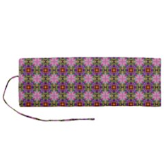 Seamless Psychedelic Pattern Roll Up Canvas Pencil Holder (m)