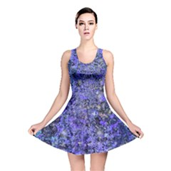 Blue Marbled Reversible Skater Dress by treegold