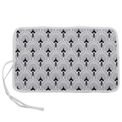 Black And White Art-deco Pattern Pen Storage Case (s)