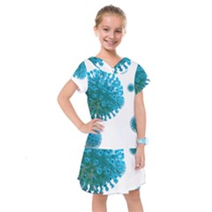 Corona Virus Kids  Drop Waist Dress by catchydesignhill