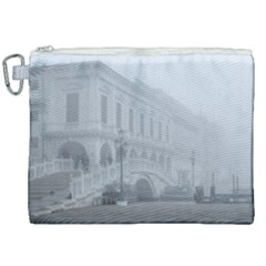 Fog Winter Scene Venice, Italy Canvas Cosmetic Bag (xxl) by dflcprintsclothing