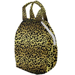 Gold And Black, Metallic Leopard Spots Pattern, Wild Cats Fur Travel Backpacks by Casemiro