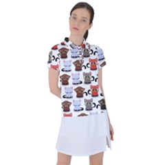 Seamless Pattern With Cute Little Kittens Various Color Women s Polo Tee