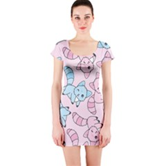 Children Pattern Design Short Sleeve Bodycon Dress