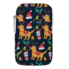 Funny Christmas Pattern Background Waist Pouch (large)