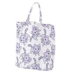 Cats Pattern Design Giant Grocery Tote