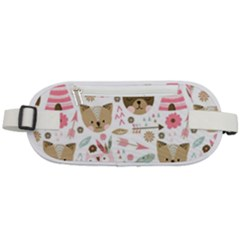 Pink Animals Pattern Rounded Waist Pouch